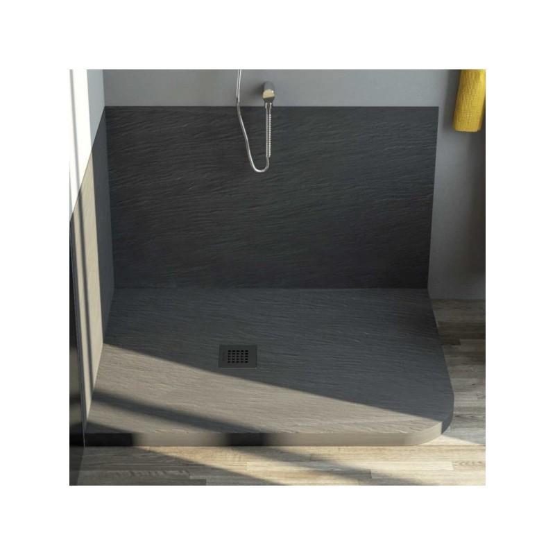 Piatto doccia in pietra sintetica ardesia 70x90 for Piatto doccia in pietra