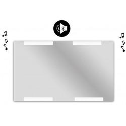 Specchio da Bagno con Angoli Squadrati Altoparlante Bluetooth e Disegno Sabbiato Retroilluminato led 20W art. spe86