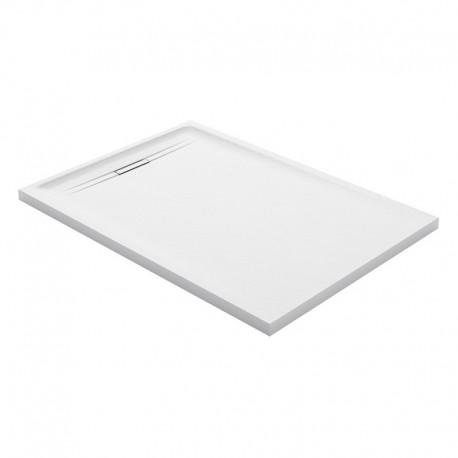 Piatto doccia 80x120 Geberit serie Sestra colore bianco effetto pietra sintetica con piletta di scarico inclusa