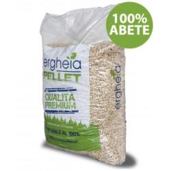 Ergheia PELLET ENPLUS A1 qualità premium 100% ABETE sacco da 15 Kg