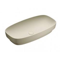 Green lux 75x40 catalano lavabo installazione ad appoggio, semincasso, su mobile grigio satinato senza troppopieno 175AGRLXGS