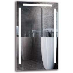 Specchio su Misura per Sala da Bagno Filo Lucido con disegno Sabbiato Retroilluminante Led 20W art. spe302