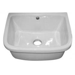 Pilozzo lavanderia sospeso o appoggio Larghezza 42 x Profondità 38 x 22h cm in ceramica bianca