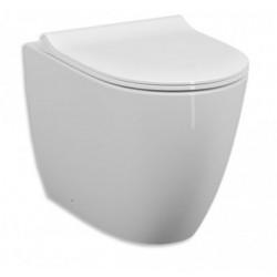 Vaso Sento di Vitra con Scarico Traslato + Tecnologia Rimfree in ceramica bianco lucido