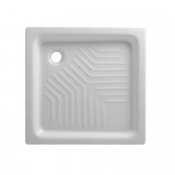 Piatto doccia 70x70 quadrato in ceramica bianco Azzurra