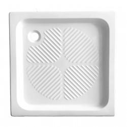 Piatto doccia 80x80 quadrato in ceramica bianco Azzurra + Piletta Sifonata Diametro 60 mm.