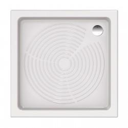 Piatto doccia 90x90 quadrato in ceramica bianco Azzurra + Piletta Sifonata Diametro 60 mm.