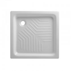 Piatto doccia 65x65 quadrato in ceramica bianco Azzurra + Piletta Sifonata Diametro 60 mm.