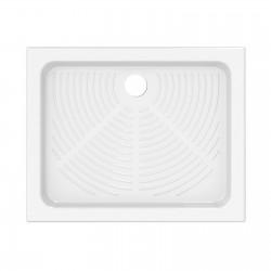 Piatto doccia 72x90 rettangolare in ceramica bianco Azzurra + Piletta Sifonata Diametro 60 mm.