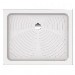 Piatto doccia 80x100 rettangolare in ceramica bianco Azzurra + Piletta Sifonata Diametro 60 mm.
