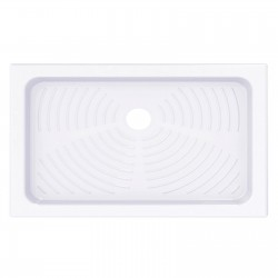 Piatto doccia 70x120 rettangolare in ceramica bianco Azzurra + Piletta Sifonata Diametro 60 mm.