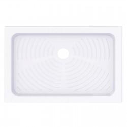 Piatto doccia 80x120 rettangolare in ceramica bianco Azzurra + Piletta Sifonata Diametro 60 mm.
