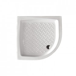 Piatto doccia Althea angolare 90x90 in ceramica antiscivolo + Piletta diametro 60 cm.