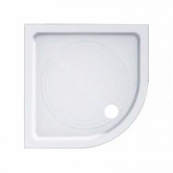 Piatto doccia Azzurra angolare 90x90 in ceramica antiscivolo + Piletta diametro 60 cm.