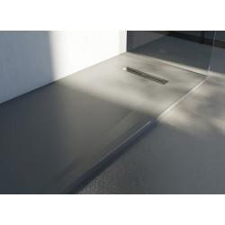Piatto doccia Lito in luxolid altezza 3 cm con piletta serigrafata in acciaio inox inclusa