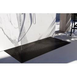 Piatto doccia Divo in luxolid Lapillus altezza 3 cm con piletta materica in tinta inclusa