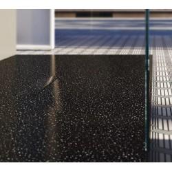 Piatto doccia Tab in luxolid Lapillus altezza 3 cm con piletta materica in tinta inclusa
