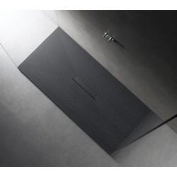 Piatto doccia Tab in pietra sintetica finitura PUNTINATO 3D altezza 3 cm con piletta materica in tinta inclusa