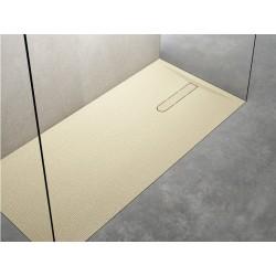 Piatto doccia Vesuvius outsider in pietra sintetica finitura Puntinato 3D altezza 3 cm con piletta materica in tinta inclusa