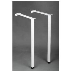 Coppia Staffe per lavatoio pilozzo e vasca a canale con gambe h60 cm con resistenza carico fino a 80 kg