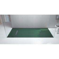 Piatto doccia Luxolid Vesuvius Sidewalk altezza 3 cm con piletta materica in luxolid lapillus inclusa