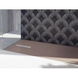 Piatto doccia Vesuvius Outsider in luxolid altezza 3 cm con piletta materica inclusa