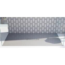 Piatto doccia Luxolid Classic altezza 3 cm con piletta materica in luxolid lapillus inclusa
