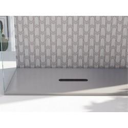 Piatto doccia Vesuvius Classic in luxolid altezza 3 cm con piletta materica inclusa