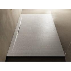 Su Misura H 3 cm Piatto Doccia Tagli in Pietra Sintetica con Piletta a Scarico Integrato Finitura Puntinato 3D