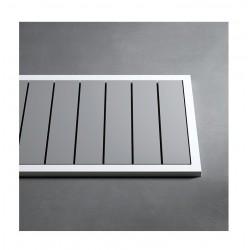 Piatto doccia bianco in luxolid con doghe colorate modello GADO h 4 cm
