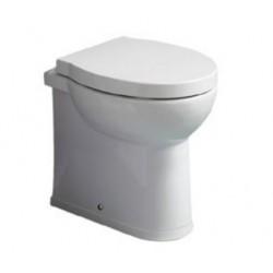 Vaso Savona profondità 48 cm Filomuro in ceramica bianco lucido