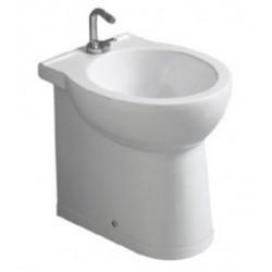 Bidet Savona profondità 48 cm Filomuro in ceramica bianco lucido