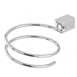 Porta Phon per il Bagno in Metallo Lucido per Installazione a Parete modello zeus