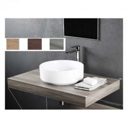 Top Bagno Larghezza 120 x Profondità 46 cm in melaminico finitura legno per lavabi d'appoggio
