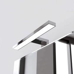 Lampada bagno a LED 30 cm per installazione su telaio o a bordo specchio