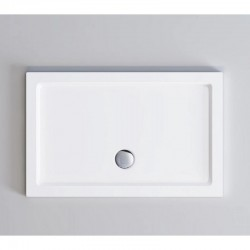 Piatto doccia Incanto 70 x 100 cm in pietra artificiale extra rinforzato finitura bianco lucido altezza 4 con bordo perimetrale