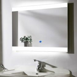 Su Misura Specchio da Bagno Filo Lucido Retroilluminate led 20W art.SPE04 con pulsante touch integrato