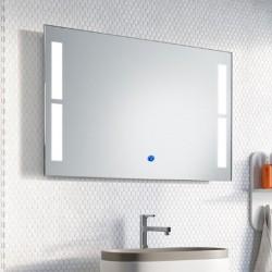 Su Misura Specchio da Bagno Filo Lucido Retroilluminate led 20W art.Miami con pulsante touch integrato