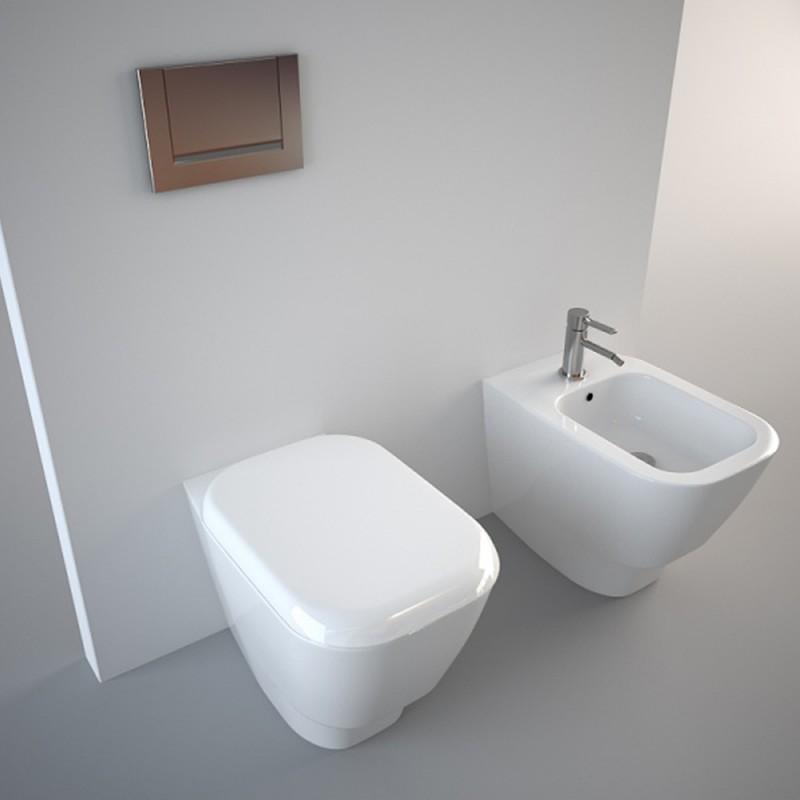 Pozzi ginori sanitari q3 filo muro coprivaso incluso - Sanitari bagno pozzi ginori ...