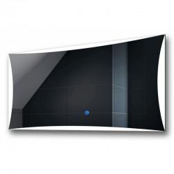 Su Misura Specchio da Bagno Filo Lucido Retroilluminate led 20W art.Spe82 con pulsante touch integrato