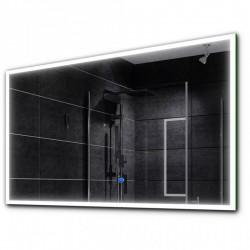 Su Misura Specchio da Bagno Filo Lucido Retroilluminate led 20W art.Spe02 con pulsante touch integrato