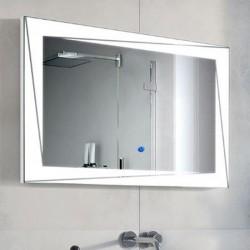 Su Misura Specchio da Bagno Filo Lucido Retroilluminate led 20W art.Milena con pulsante touch integrato