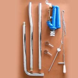 Meccanismo di Scarico per Cassetta Alta Completo di Tubi Cromo