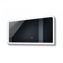 Su Misura Specchio da Bagno Filo Lucido Retroilluminate led 20W art.Spe542 con pulsante touch integrato