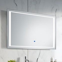 Su Misura Specchio da Bagno Filo Lucido Retroilluminate led 20W art.Seul con pulsante touch integrato