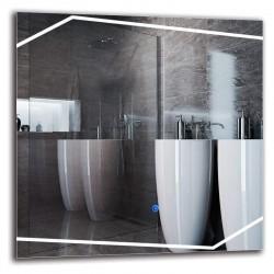 Su Misura Specchio da Bagno Filo Lucido Retroilluminate led 20W art.101 con pulsante touch integrato