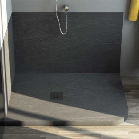 Piatto doccia mineral marmo stondato 80x100 cm for Piatto doccia pietra