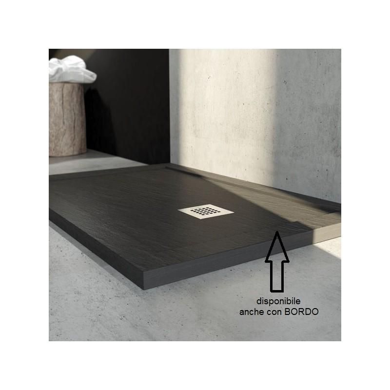Piatto doccia in marmo resina ardesia su misura diversi colori - Piatto doccia in resina o ceramica ...