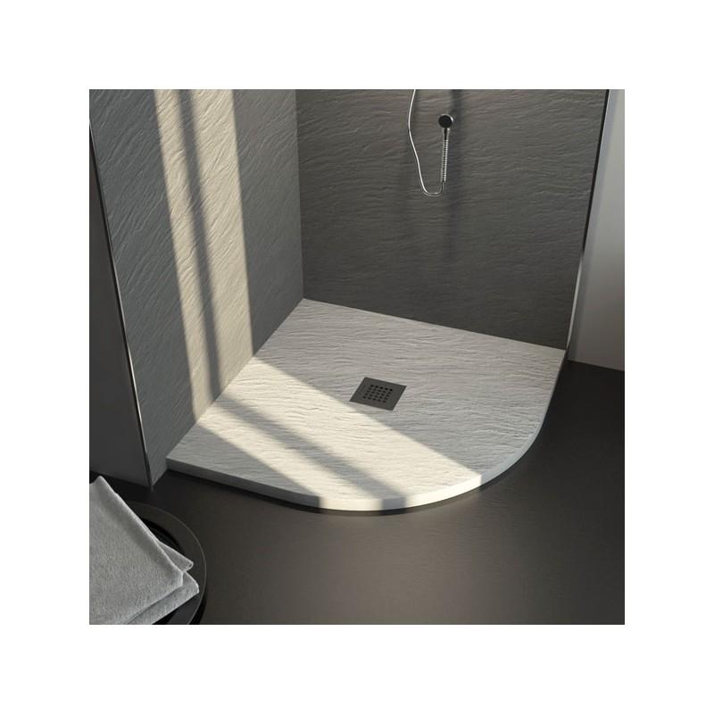 Piatto doccia in marmo resina ardesia 80x80 ad angolo for Piatto doccia prezzi