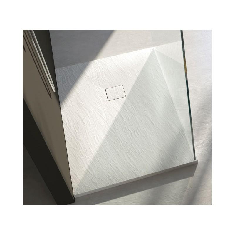 Piatto doccia marmo resina con piletta materica h 3 cm - Piatto doccia in resina o ceramica ...